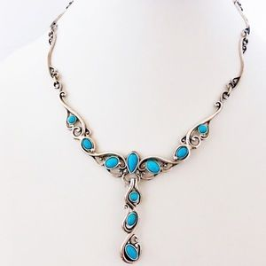 Carolyn Pollack Turquoise Convertible Necklace